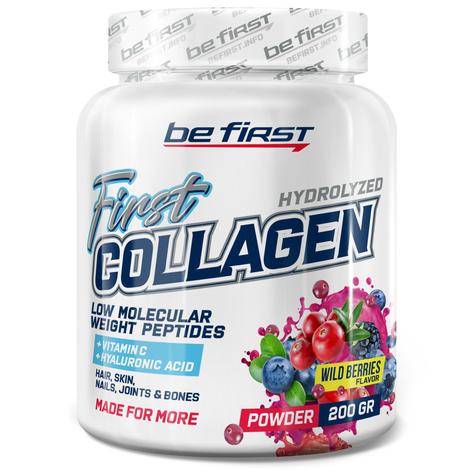 First Collagen + hyaluronic acid + vitamin C 200 гр, лесные ягоды