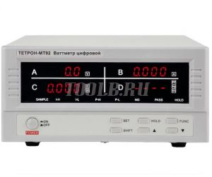 ТЕТРОН-МТ92 Ваттметр цифровой 600 В, 20 А, 12 кВт