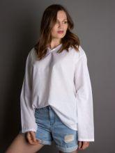 00-0026427 Рубашка-туника женская пляжная, белый