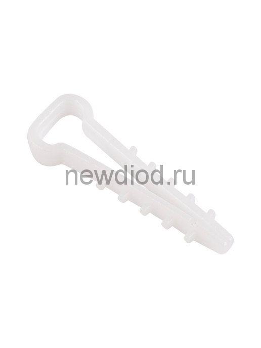 Дюбель-хомут нейлоновый прямоугольный 6-12 мм, белый (упак. 100 шт)  REXANT