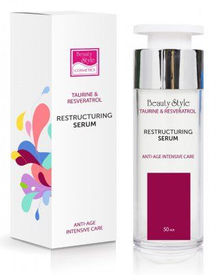 Реструктурирующая уплотняющая сыворотка Taurine & Resveratrol Beauty Style (Бьюти Стайл) 50 мл