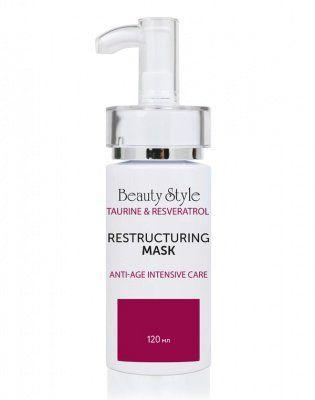 Реструктурирующая маска Anti Age plus Taurine & Resveratrol Beauty Style (Бьюти Стайл) 120 мл