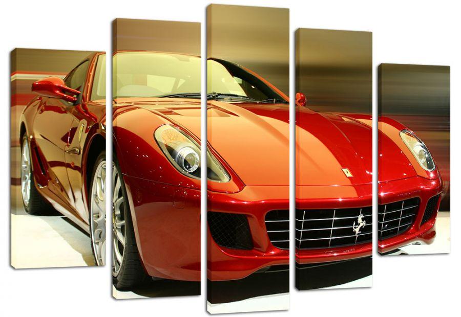 Модульная картина Красный Ferrari
