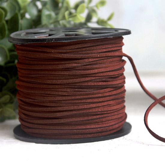 Шнур замшевый 2,5*2 мм. коричневый, 1 м.п.
