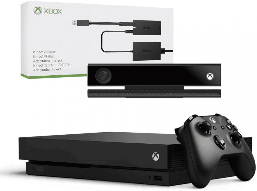 Игровая приставка Microsoft Xbox One X 1 ТБ + Kinect 2.0 + Adapter Kinect