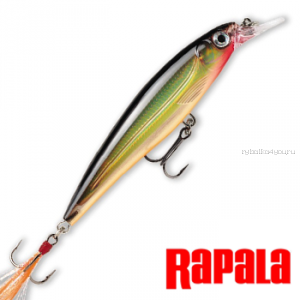 Воблер RapaIa X-Rap 100мм / 13 гр /Заглубление: 1,2 - 1,8 м /  цвет: XR10-G