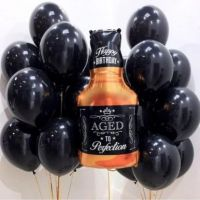Букет из  шаров - Виски с чёрными шарами