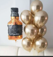 Фонтан с шаром виски и хром золото
