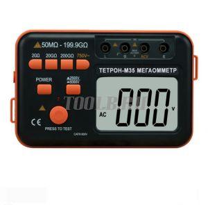 ТЕТРОН-М35 Мегаомметр цифровой 5000 Вольт 200 ГОм