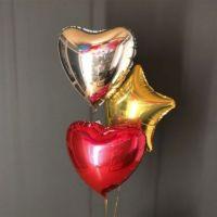 фонтанчик из фольгированных шаров