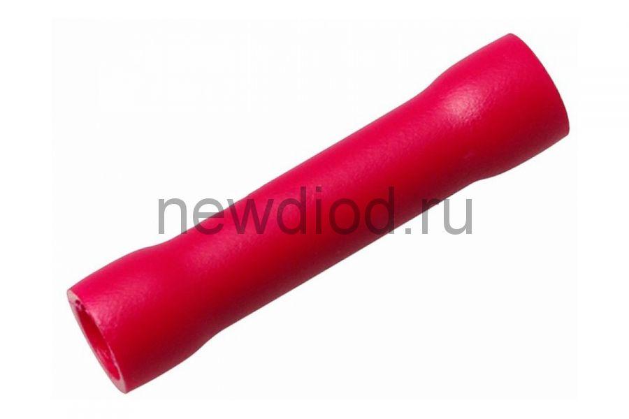 СОЕДИНИТЕЛЬНАЯ ГИЛЬЗА изолированная  L-26мм 0.5-1.5мм² (ГСИ 1.5 / ГСИ 0,5-1,5 / BV1.25) красный  REX