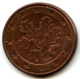 Германия 5 евроцентов 2009 F