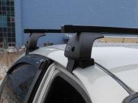 Багажник на крышу Renault Kaptur, Евродеталь, стальные прямоугольные дуги