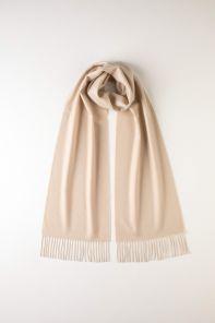 однотонный кашемировый шарф (100% драгоценный кашемир), натуральный цвет, NATURAL CLASSIC CASHMERE высокая плотность 7