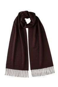 однотонный кашемировый шарф (100% драгоценный кашемир), цвет темного шоколада, Chocolate cashmere, высокая плотность 7