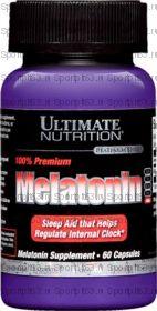 Ultimate Nutrition 100% Premium Melatonin 3мг 60капс
