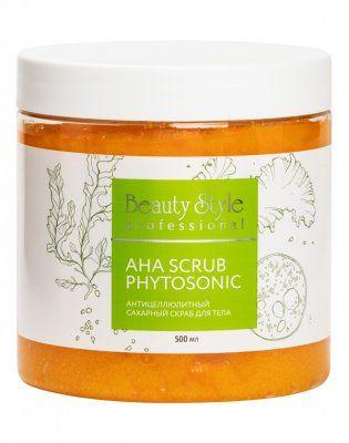 Антицеллюлитный сахарный скраб для тела AHA Scrub Phytosoniс Beauty Style (Бьюти Стайл) 500 мл