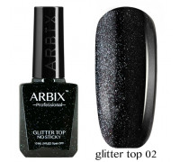 Arbix Glitter Top No Sticky №02 (светоотражающий шиммер !!! без липкого слоя)