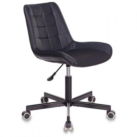 Кресло оператора Бюрократ CH-350M/BLACK, М, искуственная кожа/ткань, черный, без подлокотников