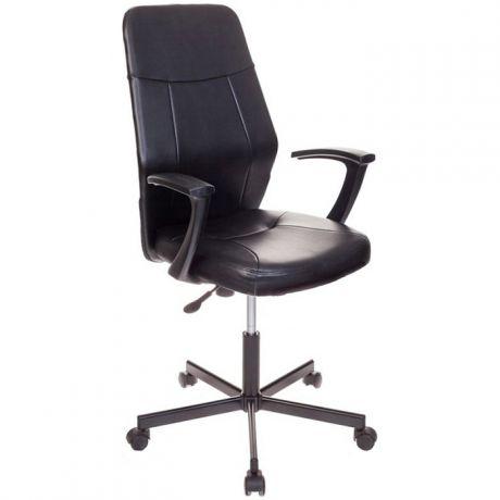 Кресло оператора Бюрократ CH-605/BLACK, ML, экокожа черный, механизм качания, ПВМ