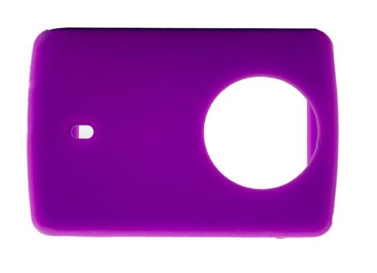 Защитный кейс + крышка на объектив для  Xiaomi Yi 2 4K XRS-XM56 ( Силикон / Фиолетовый)