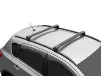 Багажник на крышу Hyundai Tucson TL (2015-2021), Lux Bridge, крыловидные дуги (черный цвет)