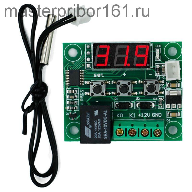 Терморегулятор программируемый W1209  -50°C до +110°C Красный