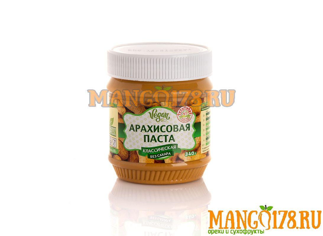 Арахисовая паста без сахара 340 гр