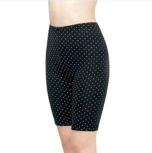Панталоны женские, 1-80Н, С180Н чёрные горох удлиненные