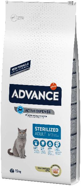 Сухой корм для стерилизованных кошек Advance Sterilized с индейкой и ячменём 15 кг