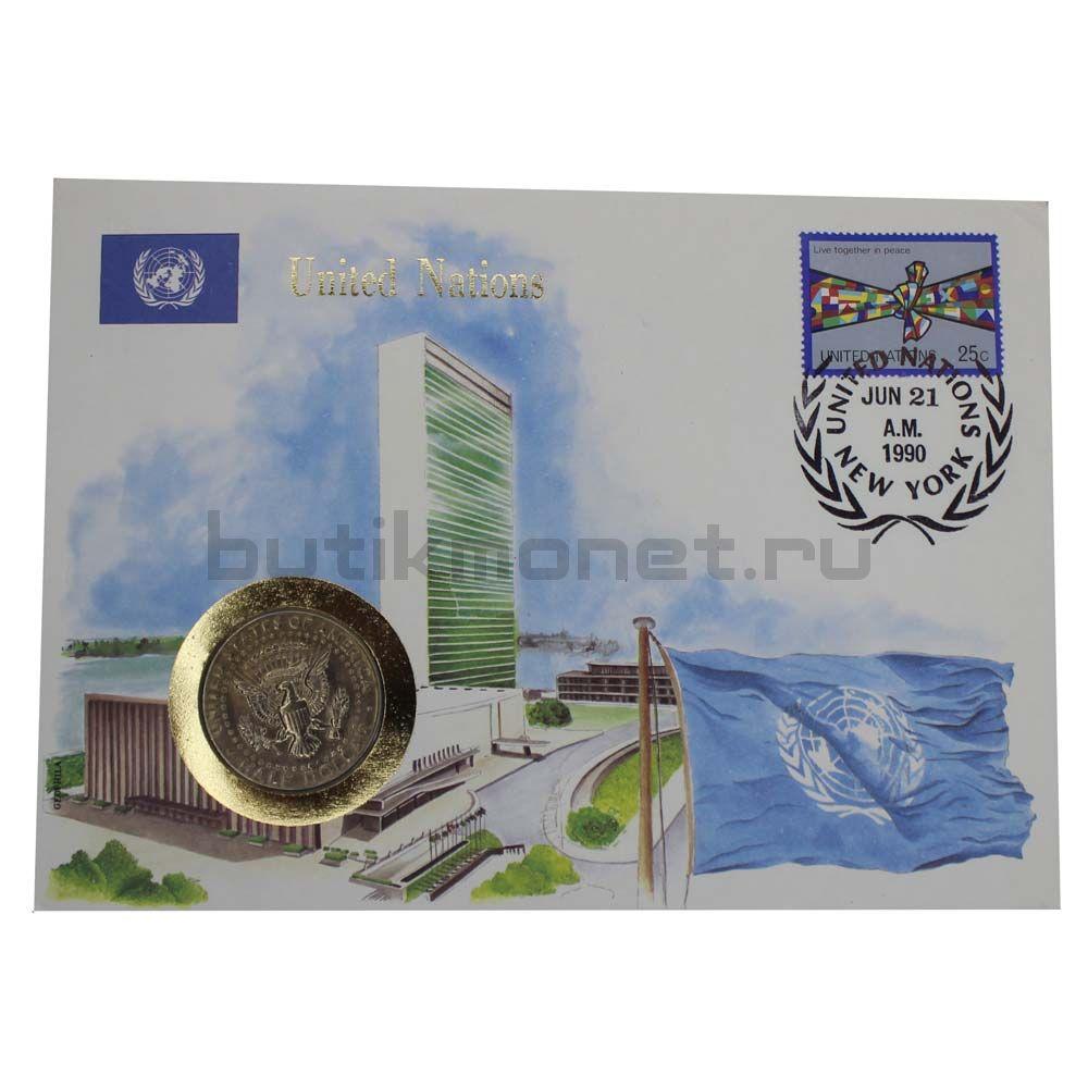 50 центов 1985 США Kennedy Half Dollar P (В буклете)