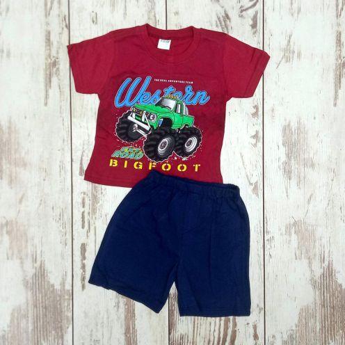 Костюм биг фут бордо: футболка, шорты