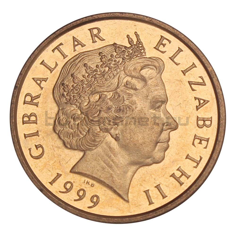 1 пенни 1999 Гибралтар