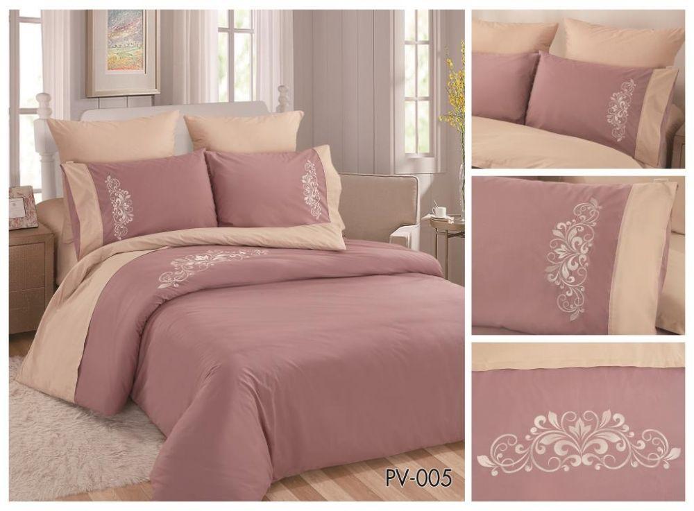 fa2deb421f8e4 Комплект постельного белья Перкаль с вышивкой 1.5-спальный Арт.PV-005-1