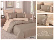 Постельное белье Перкаль с вышивкой семейный Арт.PV-001-4