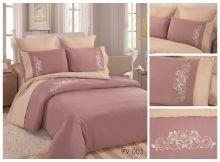 Комплект постельного белья Перкаль с вышивкой  семейный  Арт.PV-005-4