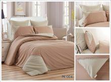 Комплект постельного белья Перкаль с кружевом  евро  Арт.PK-004-3