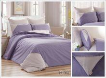 Комплект постельного белья Перкаль с кружевом  евро  Арт.PK-006-3