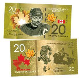 20 dollars Canada - Steve Yzerman (Стив Айзерман). Легенды хоккея (Canadian Hockey Legends). UNC