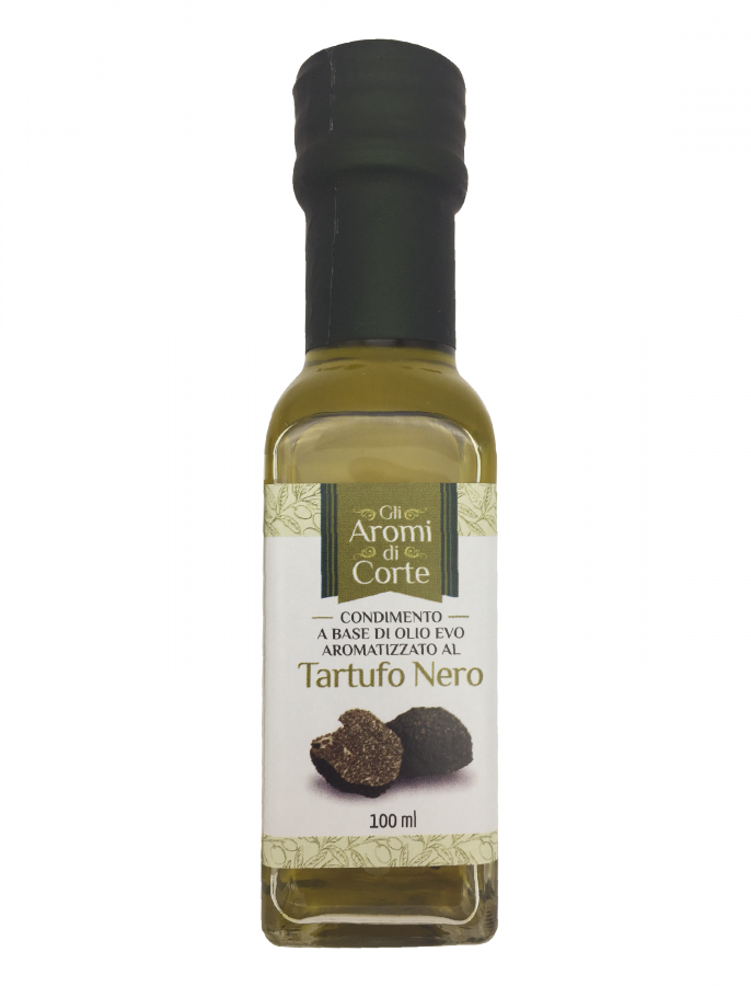 Масло оливковое с черным трюфелем 100 мл, La Corte d'Italia, Olio EVO al tartufo nero 100 ml, La Corte d'Italia