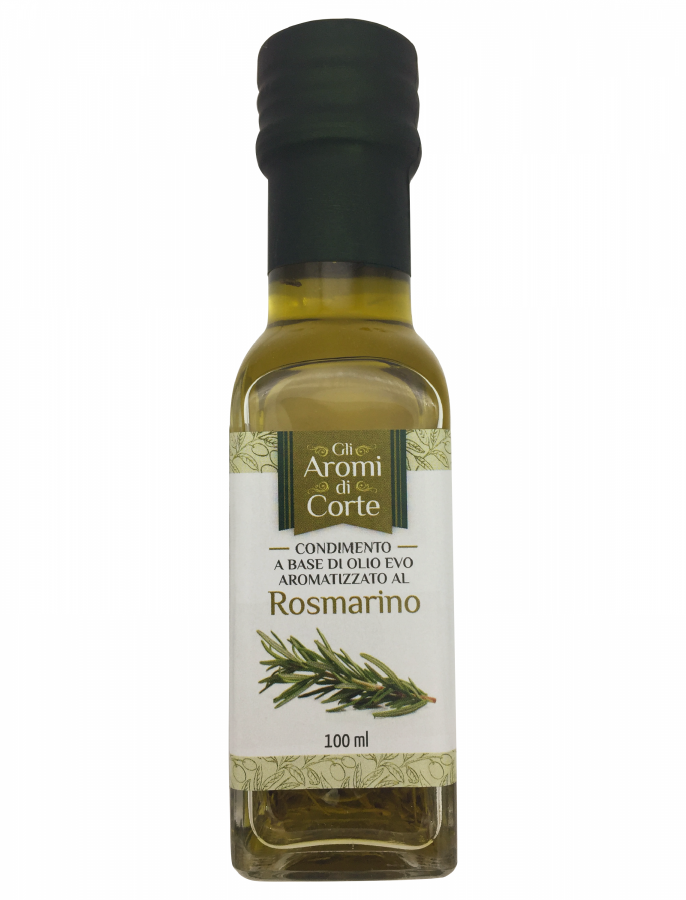 Масло оливковое с розмарином 100 мл, La Corte d'Italia, Olio EVO al rosmarino 100 ml, La Corte d'Italia