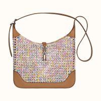 Сумка Hermes Trim 31 silky bag (Multicolore Rose Sakura/Gold)