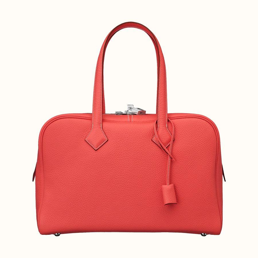 Сумка Hermes Victoria II fourre-tout 35 bag (Rouge Pivoine)