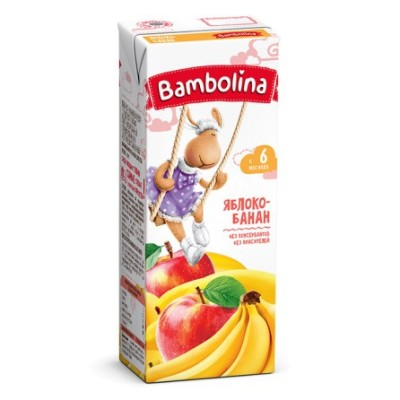 Нектар Bambolina 200мл Ябл/Банан д/дет с 6мес
