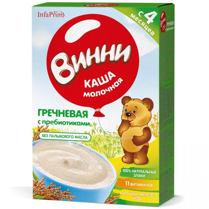 Каша Винни 200г Молочная гречневая с пребиот.д/детей с 4 мес.
