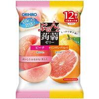 Orihiro желе персик и грейпфрут 12шт