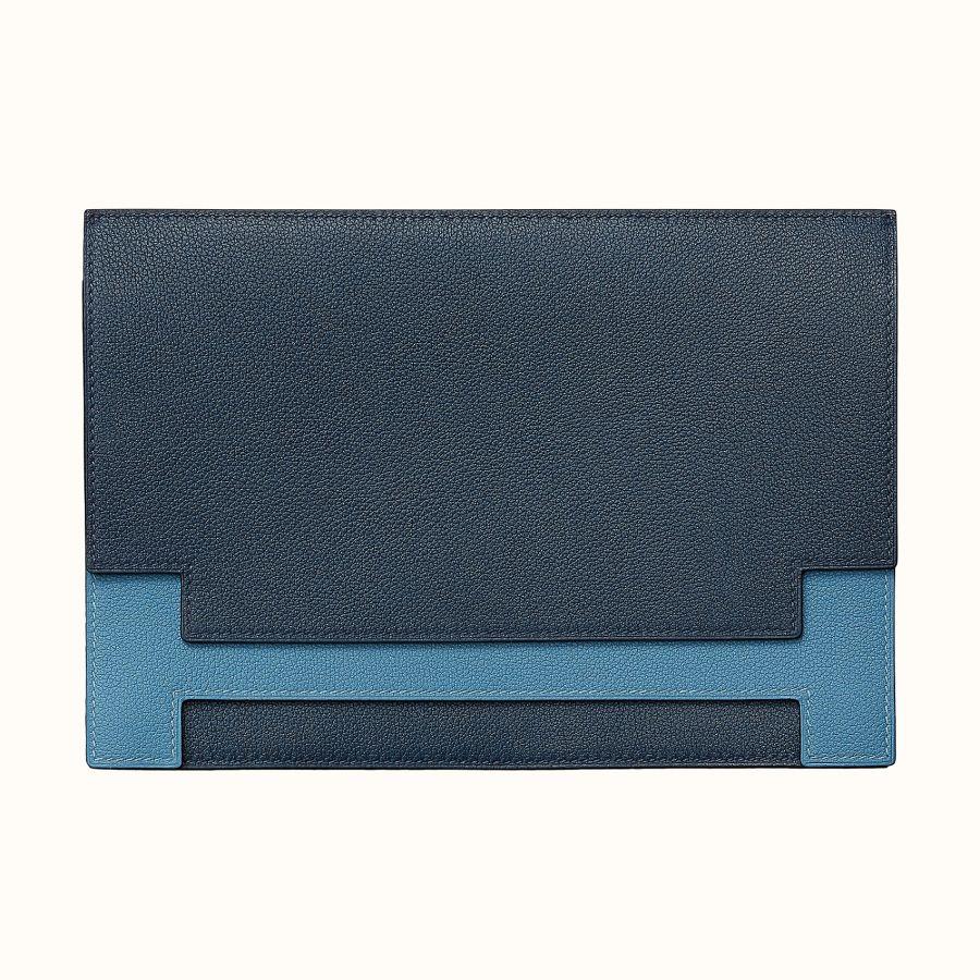 Клатч Multiplis Hermes clutch (Bleu De Malte/Azur)