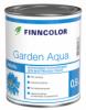 Эмаль Акриловая Finncolor Garden Aqua 0.9л Универсальная, Полуматовая для Внутренних Работ Без Запаха / Финнколор Гардн Аква