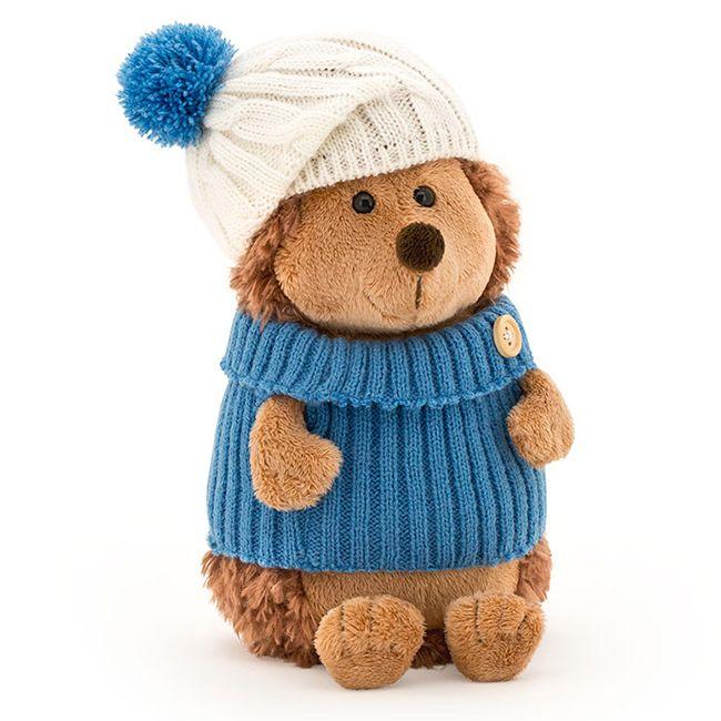 Ежик Колюнчик в шапке с голубым помпоном