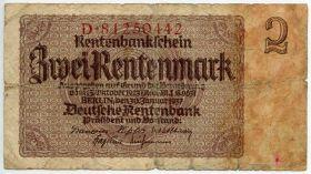 Германия 2 рентенмарки 1937